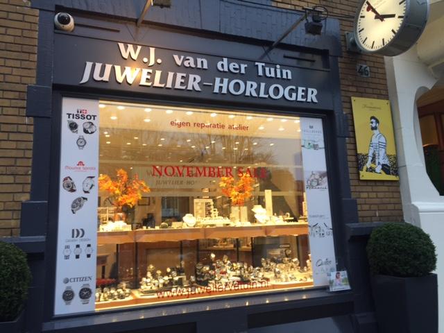 Raambelettering Juwelier Cornelis Schuytstraat Amsterdam