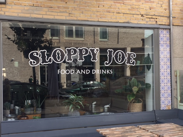 Raambelettering Restaurant Sloppy Joe